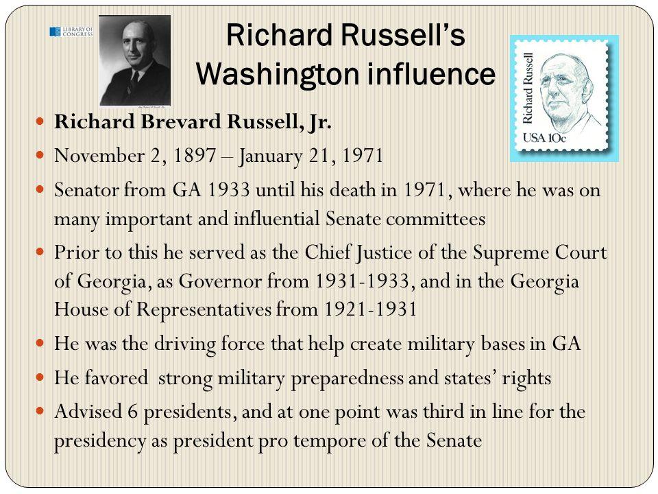 Richard Russell's Washington influence