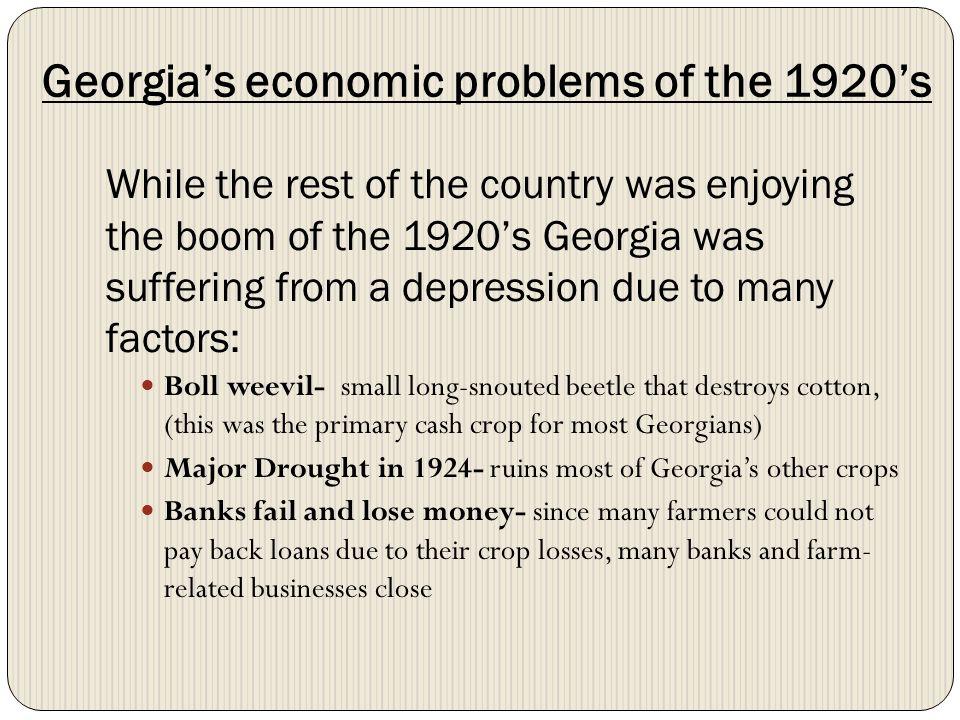 Georgia's economic problems of the 1920's