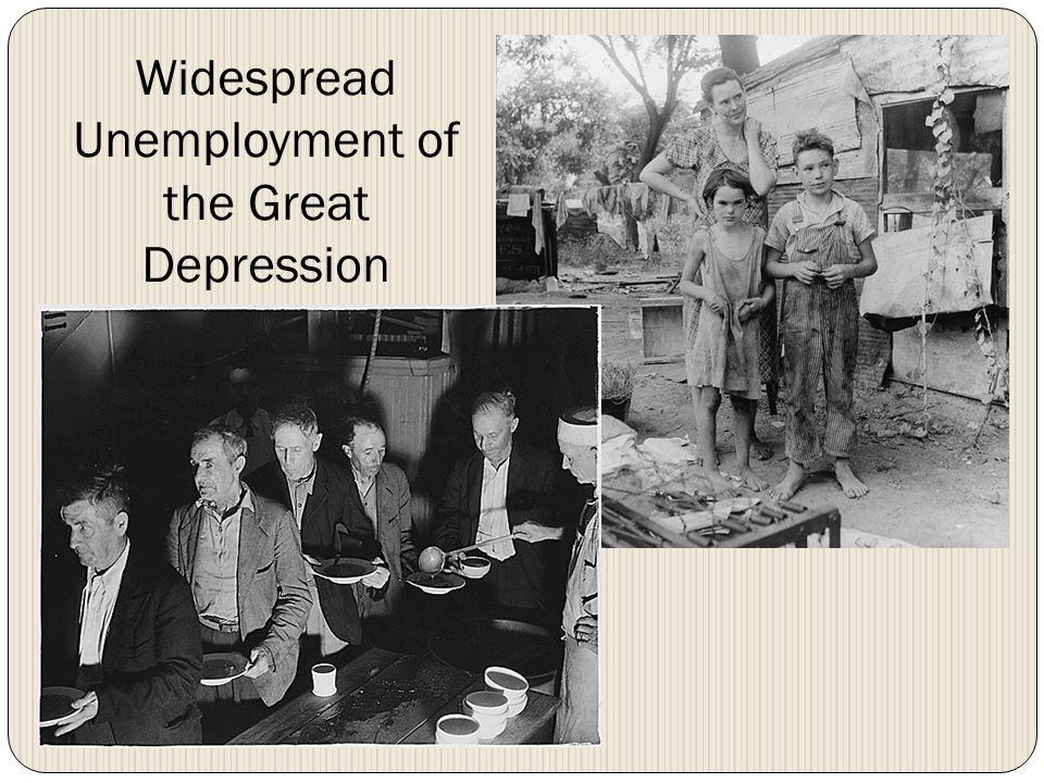 Widespread Unemployment of the Great Depression