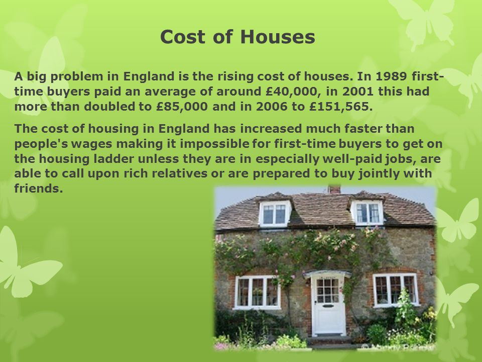 Cost of Houses