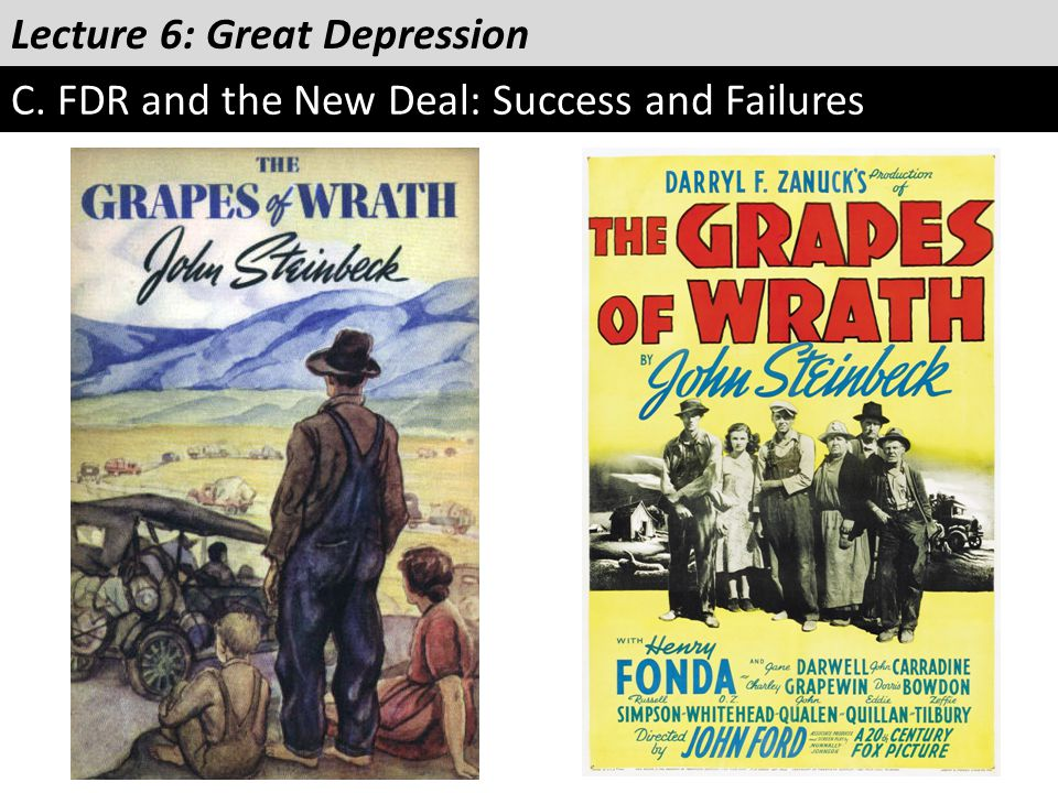 Lecture 6: Great Depression