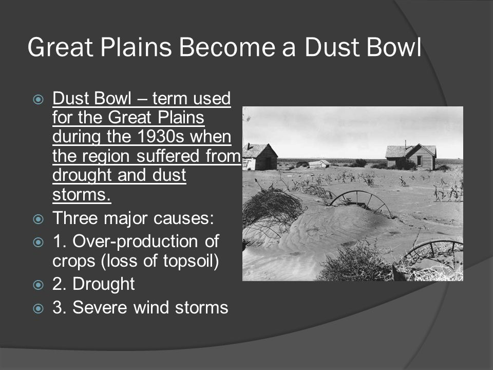 Great Plains Become a Dust Bowl