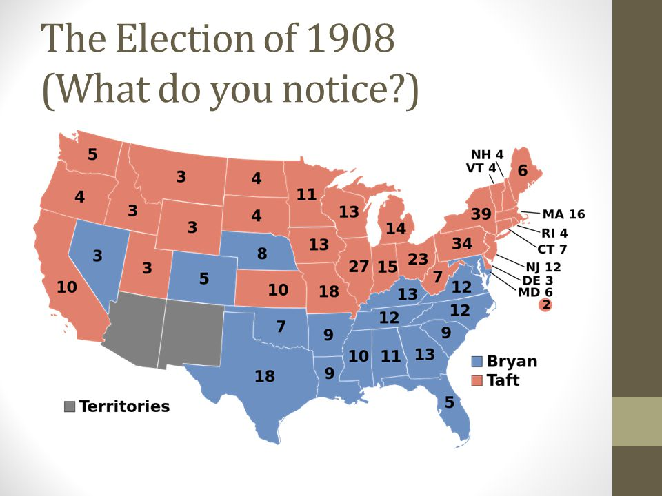 The Election of 1908 (What do you notice )
