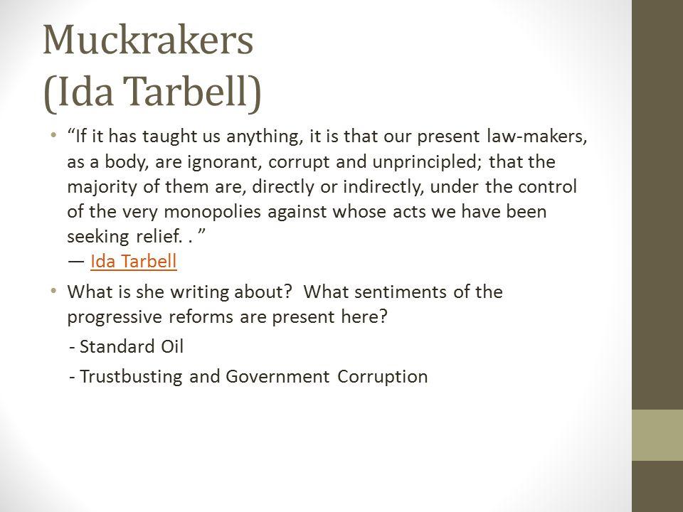 Muckrakers (Ida Tarbell)