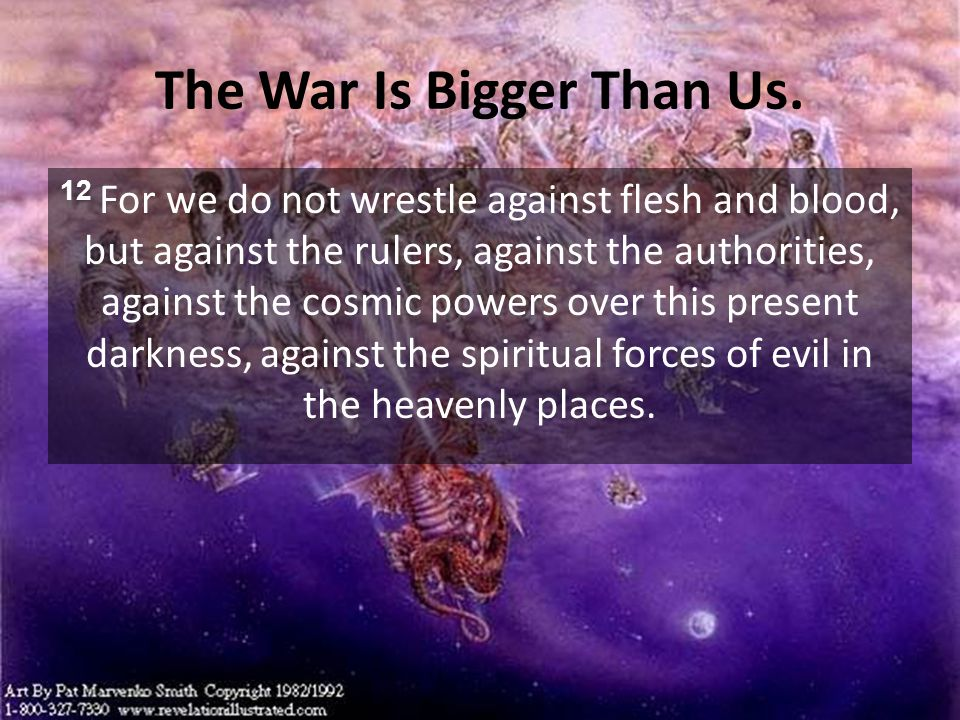 The War Is Bigger Than Us.