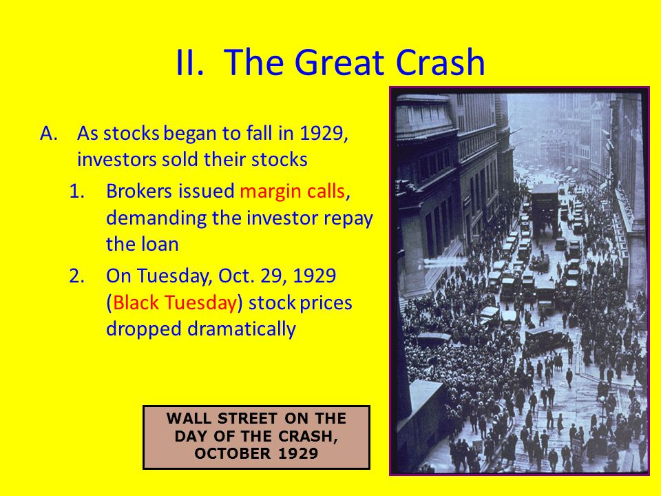 WALL STREET ON THE DAY OF THE CRASH, OCTOBER 1929