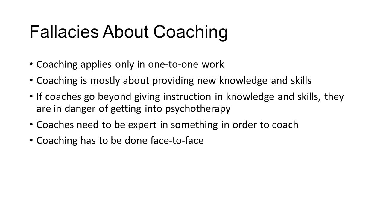 Fallacies About Coaching