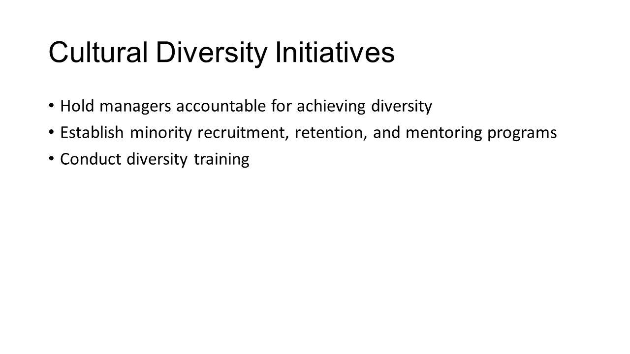 Cultural Diversity Initiatives
