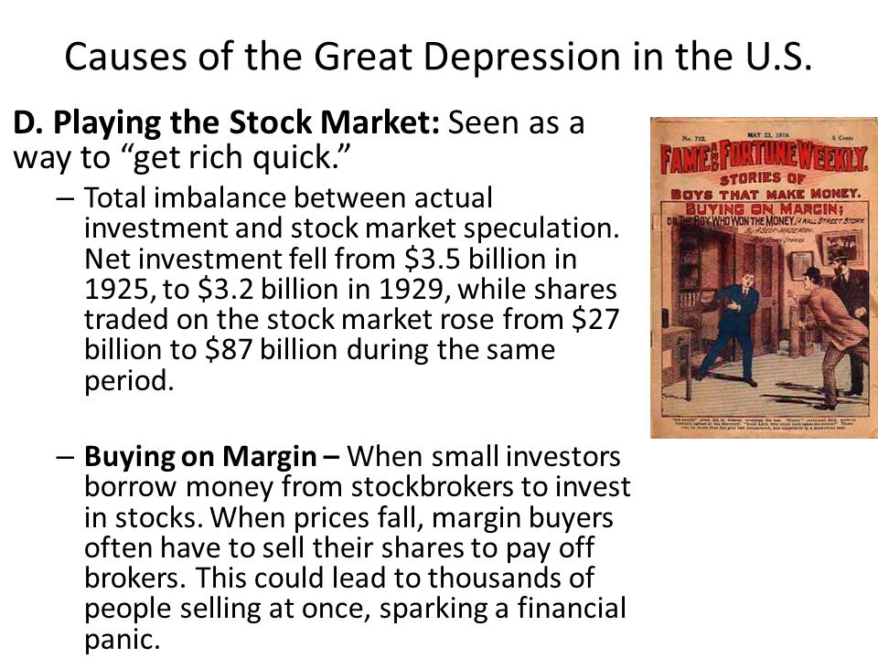 Causes of the Great Depression in the U.S.