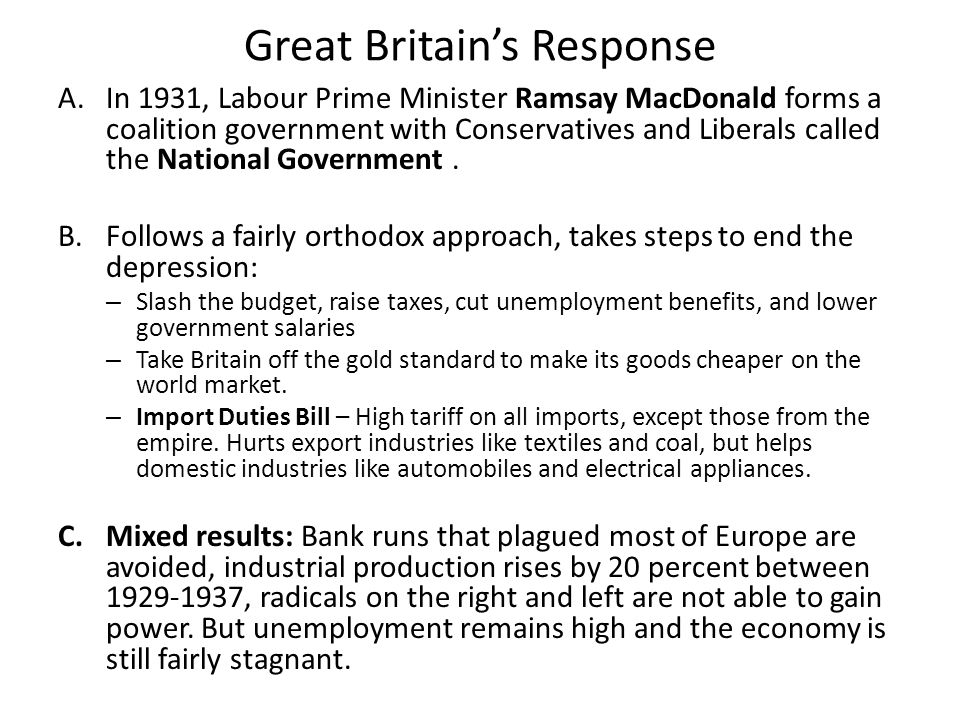Great Britain's Response