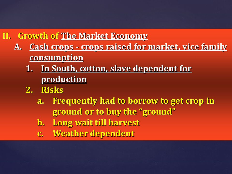 Growth of The Market Economy