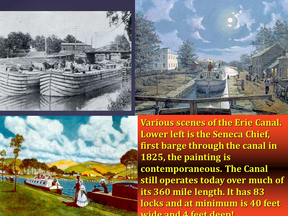 Various scenes of the Erie Canal