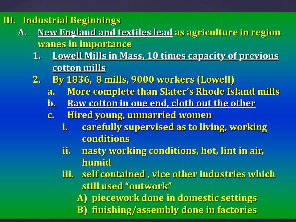 Industrial Beginnings