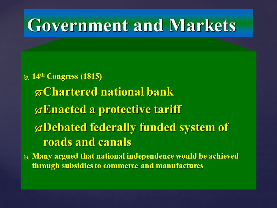 Government and Markets