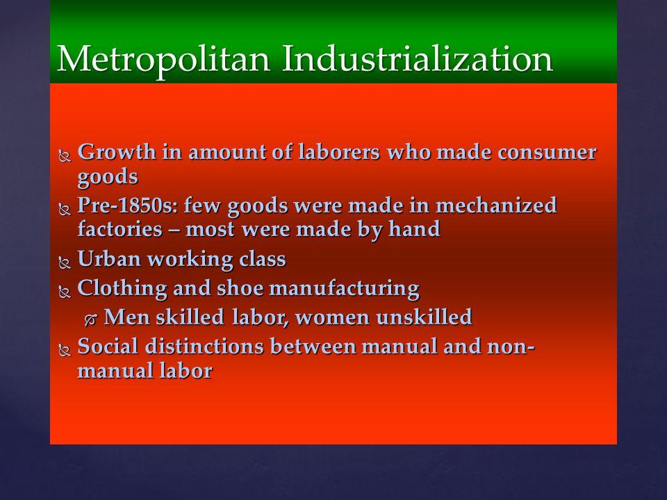 Metropolitan Industrialization