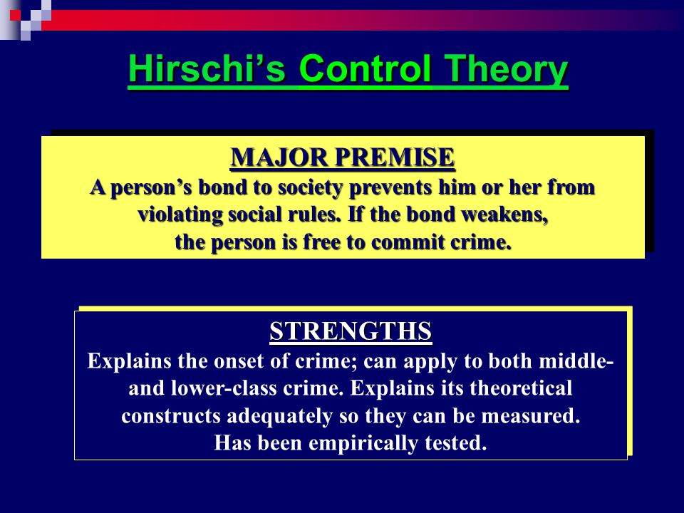 Hirschi's Control Theory