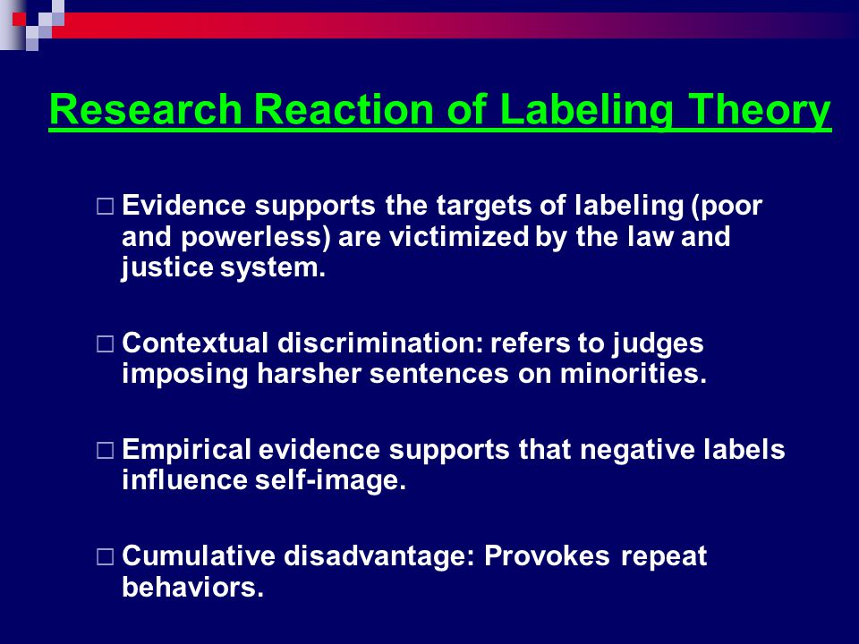 Research Reaction of Labeling Theory