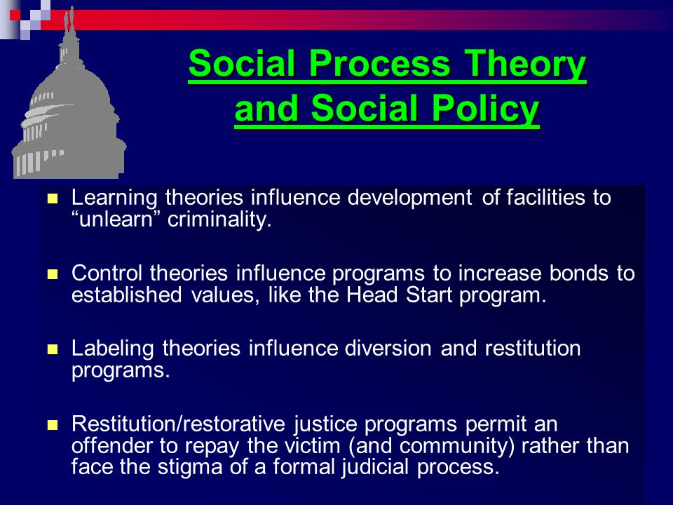 Social Process Theory and Social Policy
