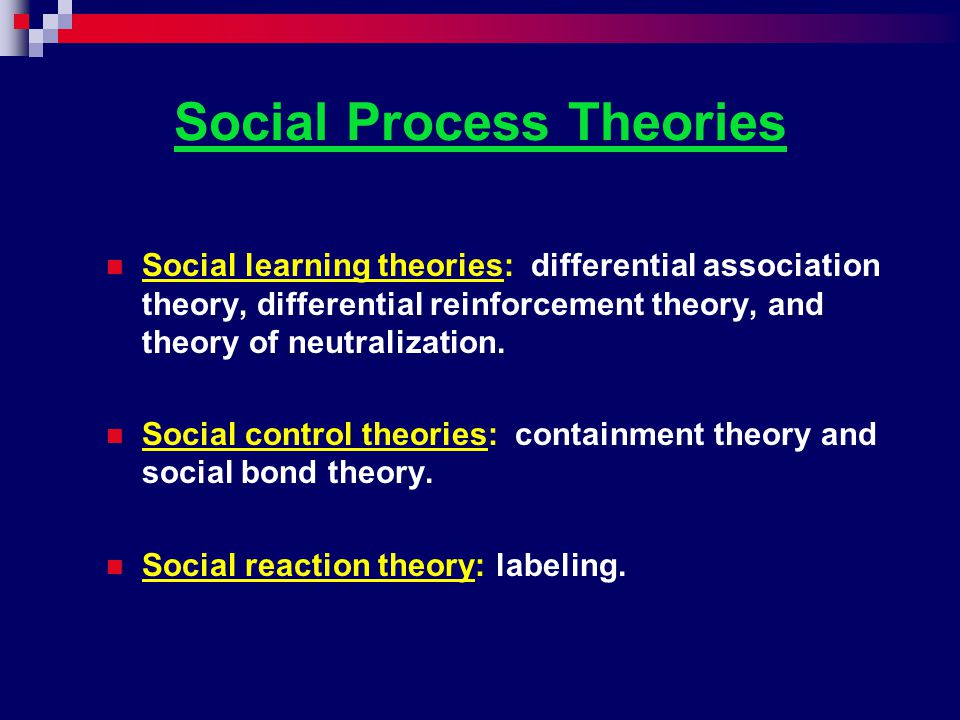 Social Process Theories