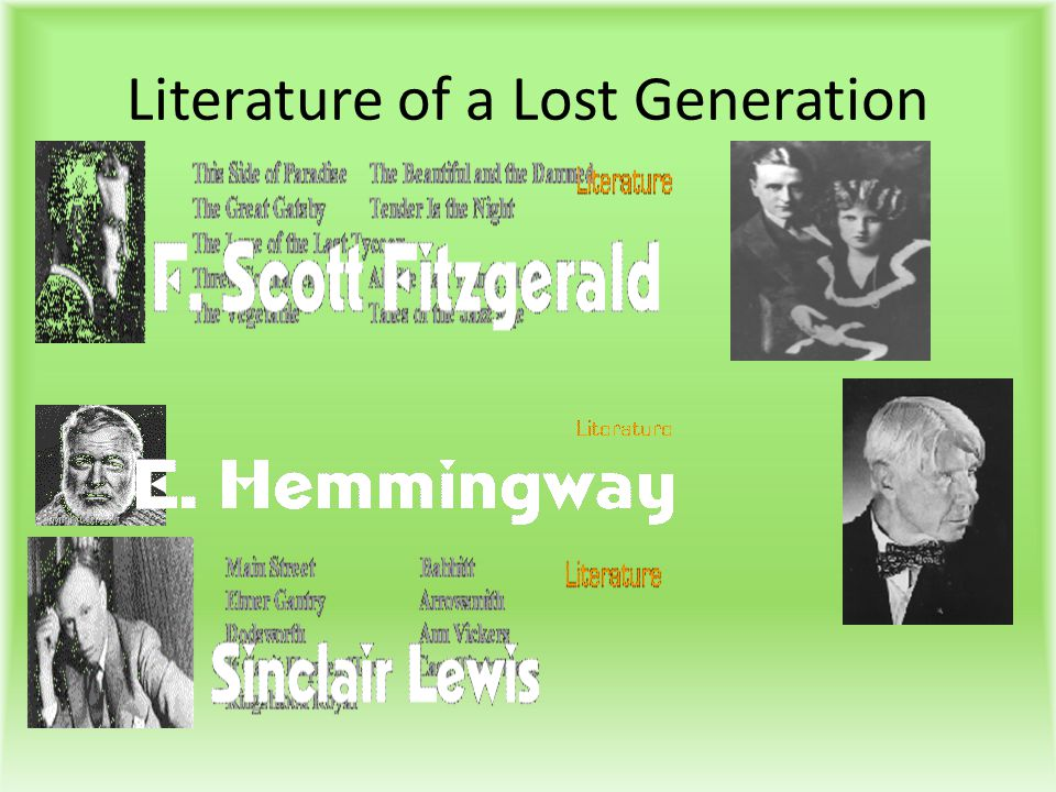 Literature of a Lost Generation