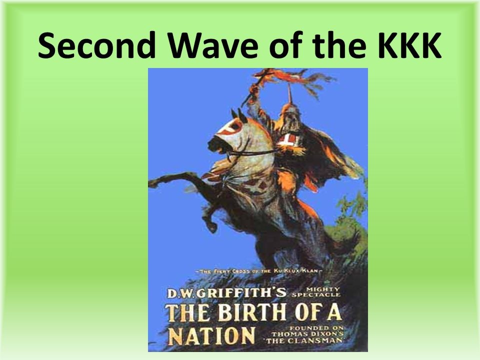 Second Wave of the KKK