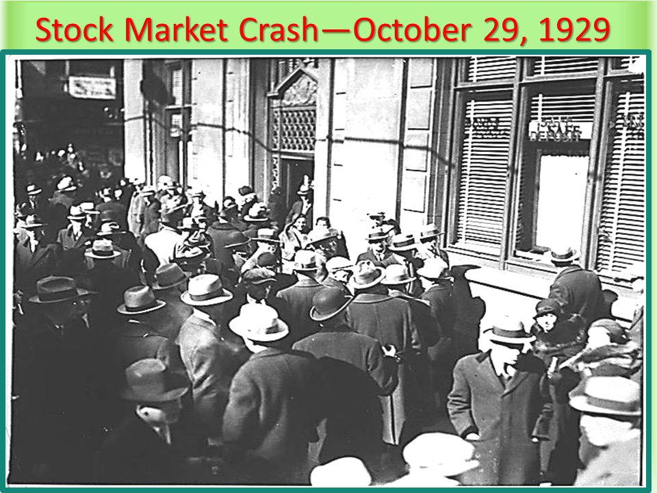 Stock Market Crash—October 29, 1929
