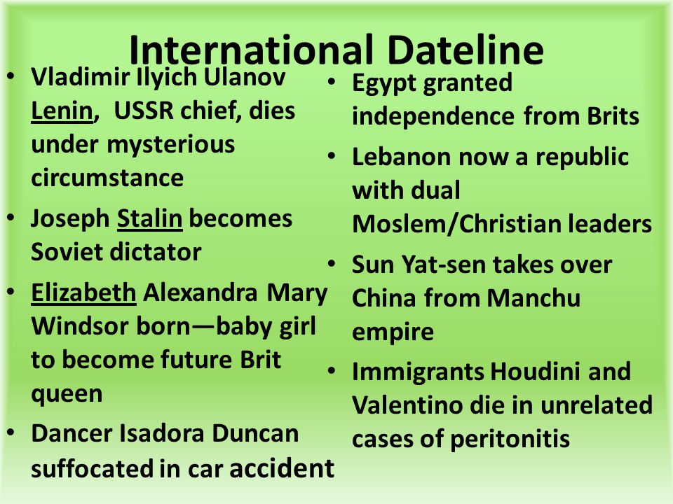 International Dateline