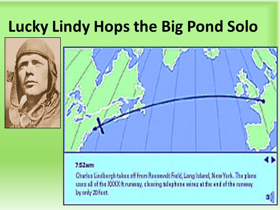 Lucky Lindy Hops the Big Pond Solo