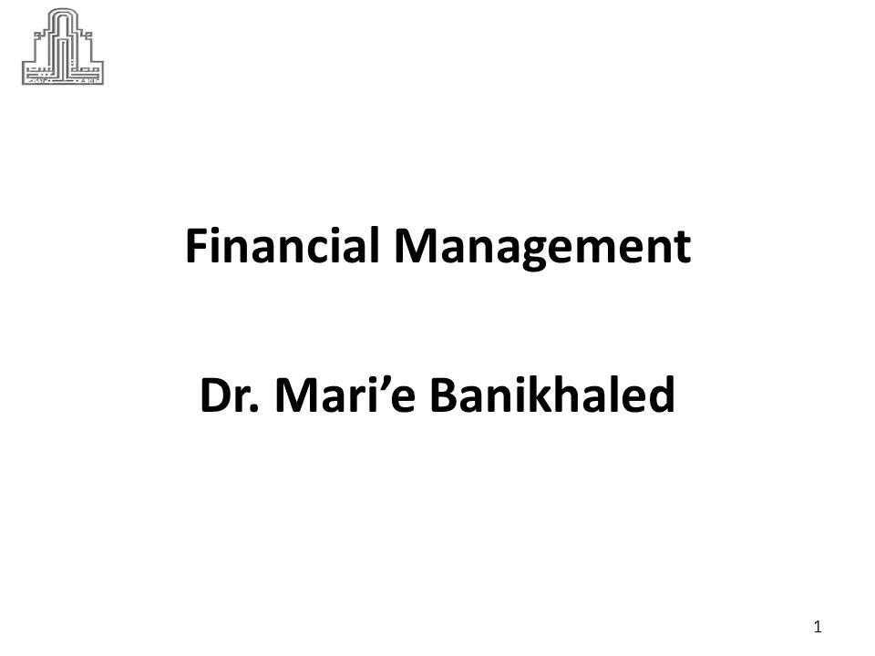 Dr Marie Bani Khalid Dr. Mari'e Banikhaled