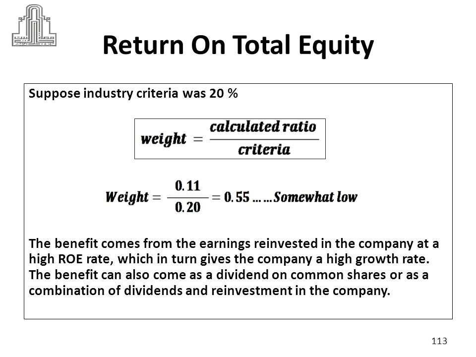 Return On Total Equity