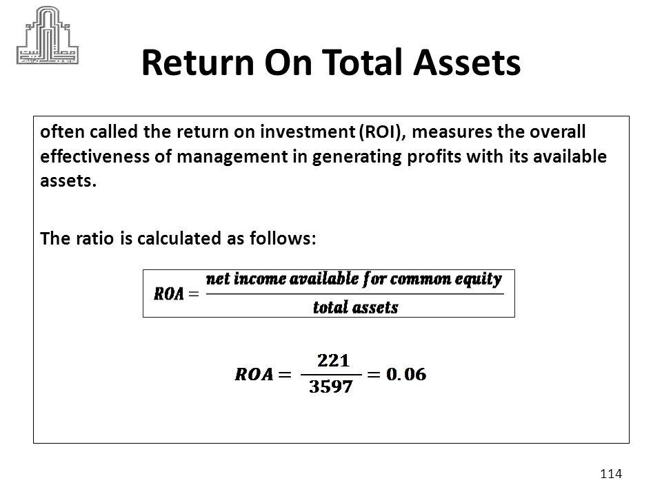 Return On Total Assets