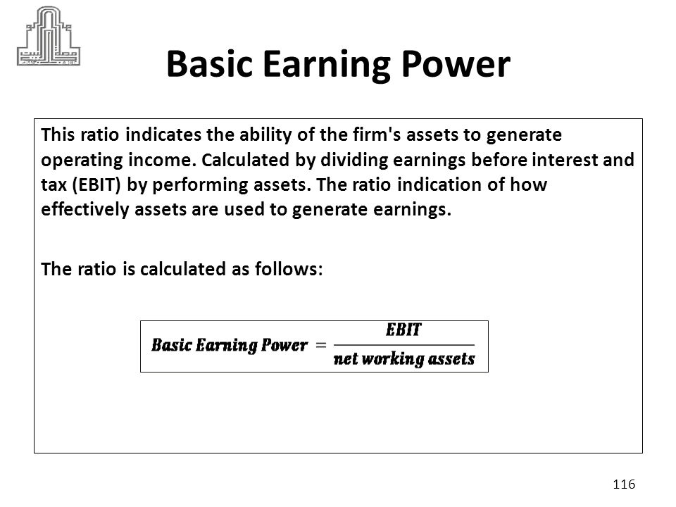 Basic Earning Power