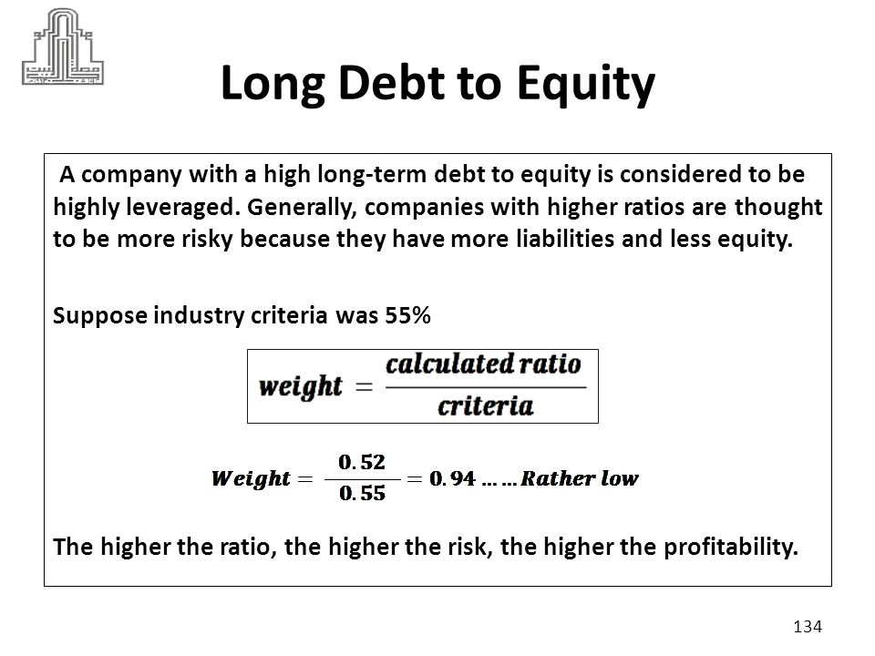 Long Debt to Equity
