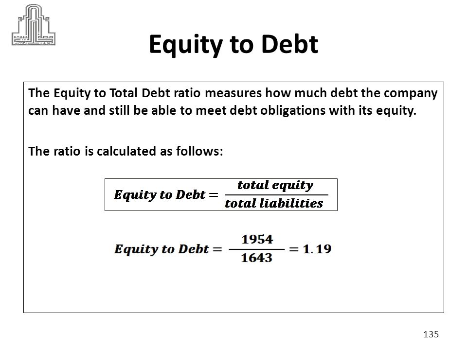 Equity to Debt