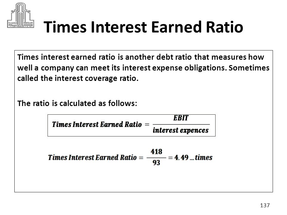 Times Interest Earned Ratio