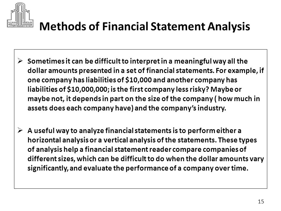 interpreting financial results