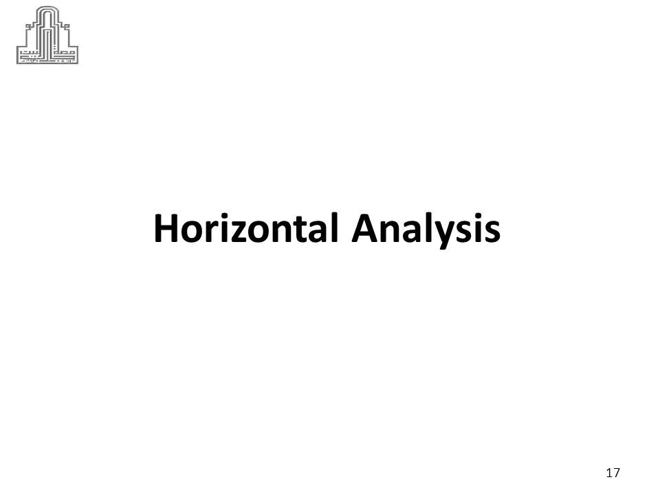Dr Marie Bani Khalid Horizontal Analysis