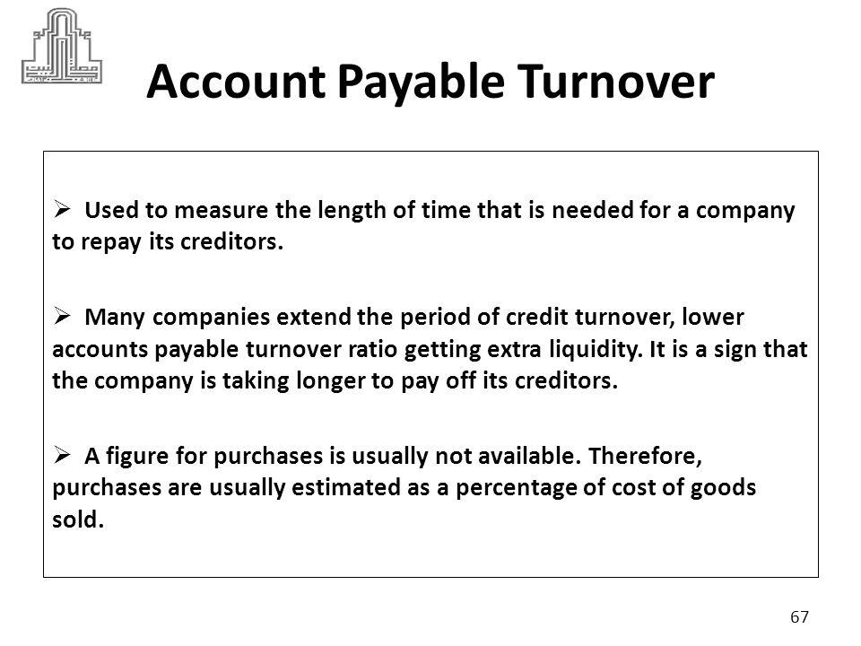 Account Payable Turnover