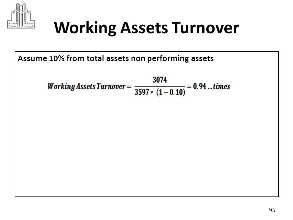 Working Assets Turnover