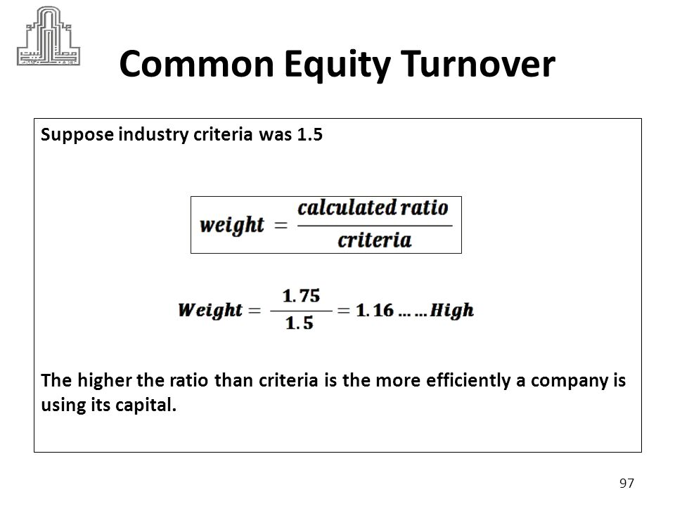Common Equity Turnover