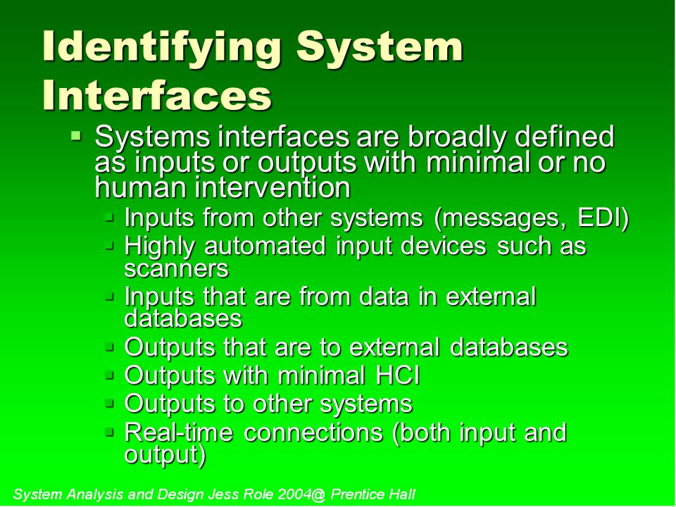 Identifying System Interfaces