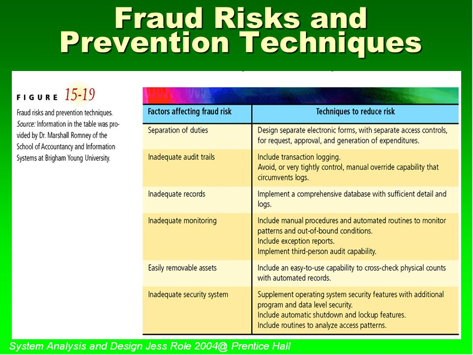 Fraud Risks and Prevention Techniques