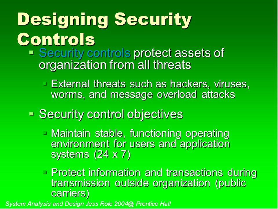 Designing Security Controls