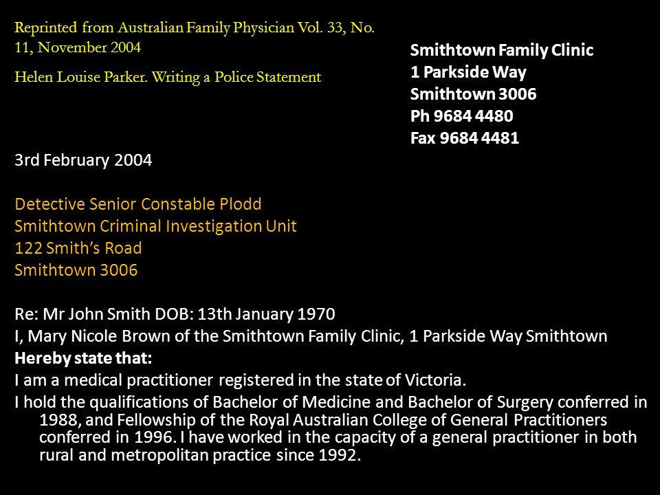 Smithtown Family Clinic 1 Parkside Way Smithtown 3006 Ph 9684 4480