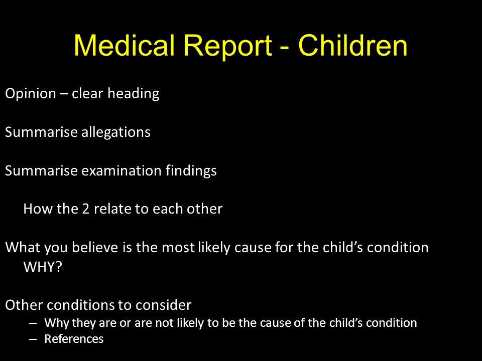 Medical Report - Children