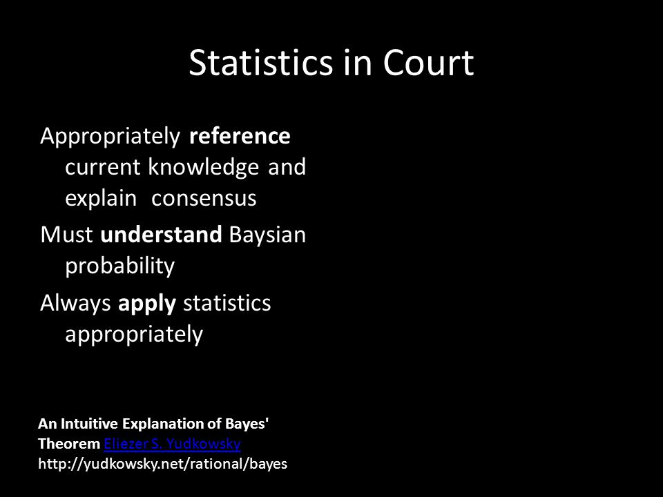 Statistics in Court