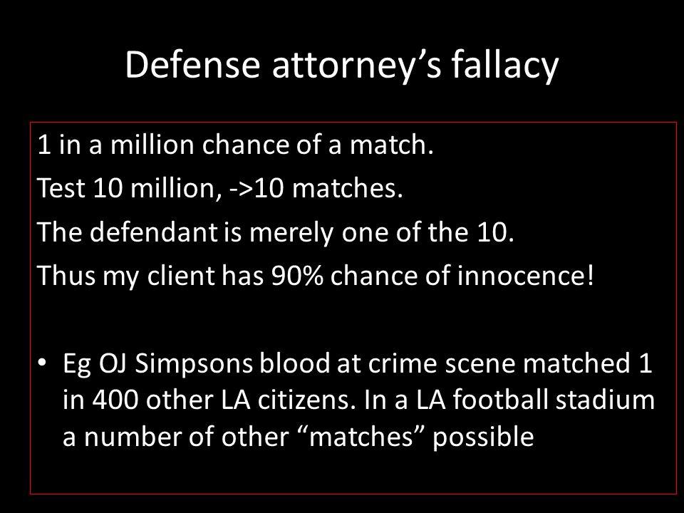 Defense attorney's fallacy