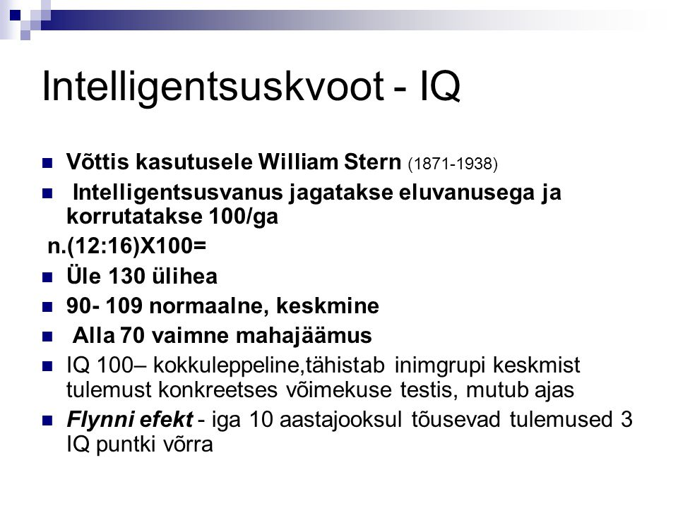 Intelligentsuskvoot - IQ