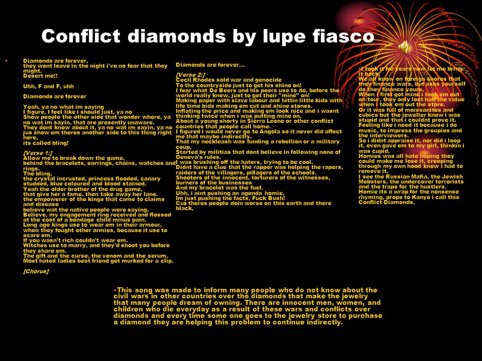 Conflict diamonds by lupe fiasco