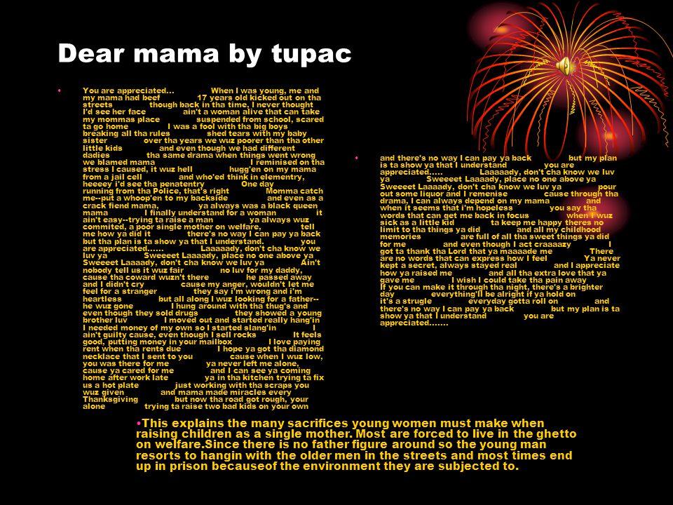 Dear mama by tupac